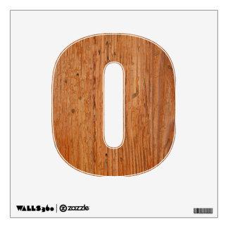 Stylish Oak Wood Wall Decal Letter O Small