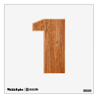 Stylish Oak Wood Wall Decal One-Small