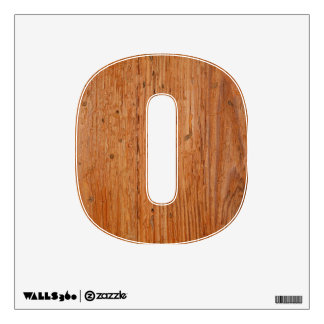 Stylish Oak Wood Wall Decal Zero-Small