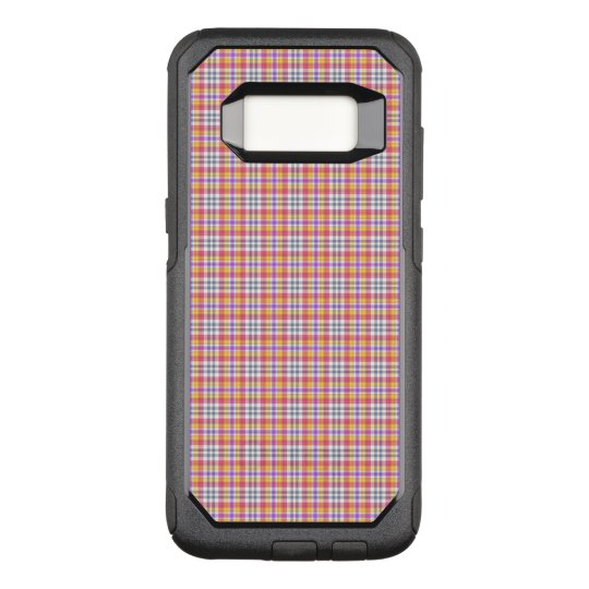 Stylish orange chequered Pattern OtterBox Commuter Samsung Galaxy S8 Case