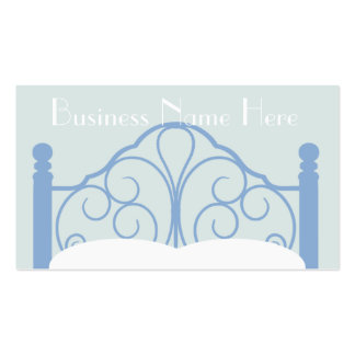 Stylish Ornate Bed Frame with Pillows Business Card