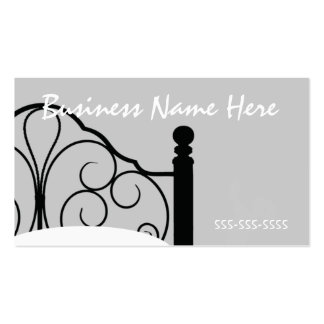 Stylish Ornate Bed Themed Business Card