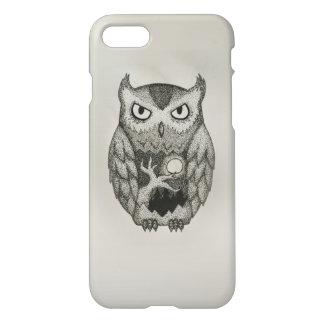 Stylish Owl Dotwork Pnone Case