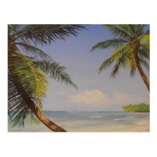 Stylish Palm Tree Postcard