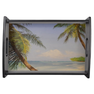 Stylish Palm Tree Serving Tray