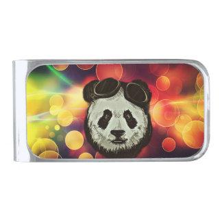 Stylish Panda Bear Silver Finish Money Clip