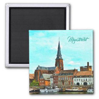 Stylish panorama of Maastricht Magnet