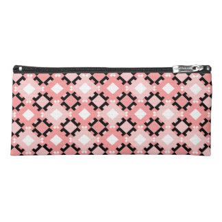 Stylish Pastel Pink Geometric Pattern Pencil Case