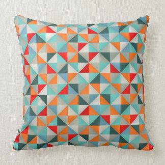 Stylish Patchwork Style Geometric Triangles Throw Pillow