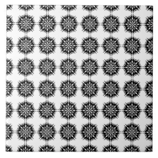 Stylish Pattern. Black and White. Tile