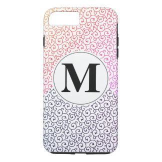 Stylish Pattern / Two Tone iPhone 7 Plus Case