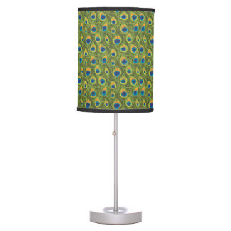 Stylish Peacock Print Pattern Table Lamp