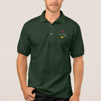 stylish personalized golf player logo on green polo shirt