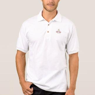 stylish personalized golf player logo on white polo shirt