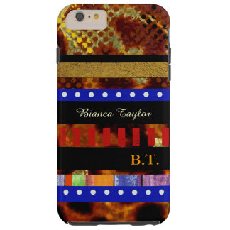 stylish & personalized multicolored stripes tough iPhone 6 plus case
