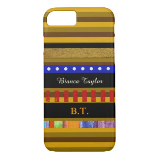stylish & personalized striped iPhone 7 case