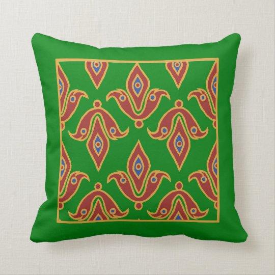 Stylish Pillow, Fleur-de-Lys, Maroon, Blue, Green Throw Pillow