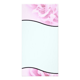 Stylish Pink and White blossom wedding gift Photo Card Template