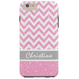 Stylish Pink Glitter Tough iPhone 6 Plus Case