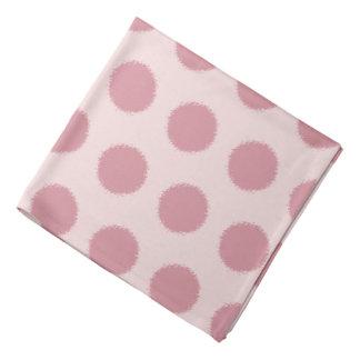 Stylish Pink Polka Dot Bandana