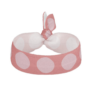 Stylish Pink Polka Dots with Pink Background Hair Tie