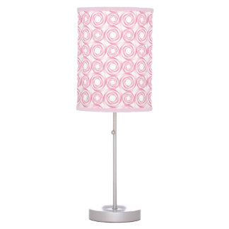 Stylish Pink Swirl Vortex Pattern Table Lamp
