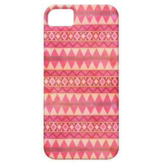 Stylish Pink Tribal Triangle Pattern iPhone 5 Covers