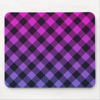 Stylish-Plaids_Diamond_Hot-Pink-Black_Unisex Mouse Pad