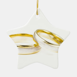 Stylish, Polished, & Classy Wedding Rings Ceramic Ornament