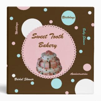 Stylish Polka Dot Bakery Photo Binder