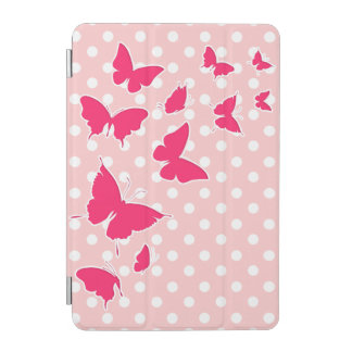 Stylish Polka Dot Butterflies iPad Mini Cover