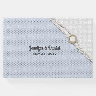 Stylish Polka Dot Custom Wedding Guest Book