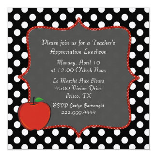 Stylish Polka Dot Teacher's Luncheon Invitation