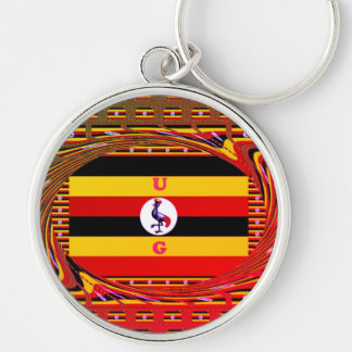 Stylish Premium Lovely UG Round Pattern Design art Keychain
