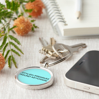 Stylish premium round keychain