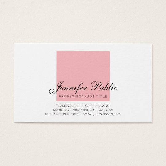 Stylish Professional Creative Simple Modern Design Business Card