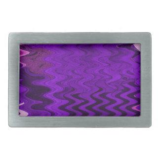 stylish purple background rectangular belt buckle