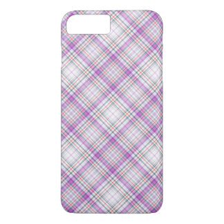 Stylish purple checkered Pattern iPhone 8 Plus/7 Plus Case