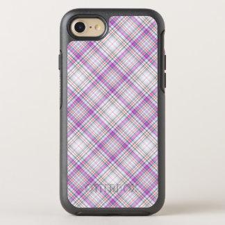 Stylish purple chequered Pattern OtterBox Symmetry iPhone 8/7 Case