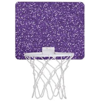 Stylish Purple Glitter Mini Basketball Hoop