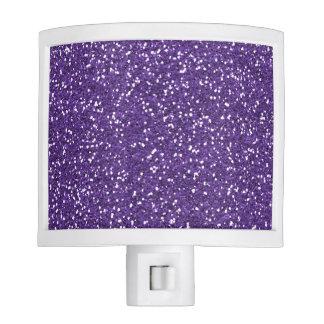Stylish Purple Glitter Nite Lights