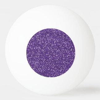 Stylish Purple Glitter Ping Pong Ball