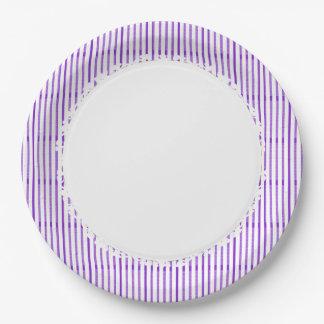 Stylish-Purple-White-Everyday-Multi-Size Paper Plate