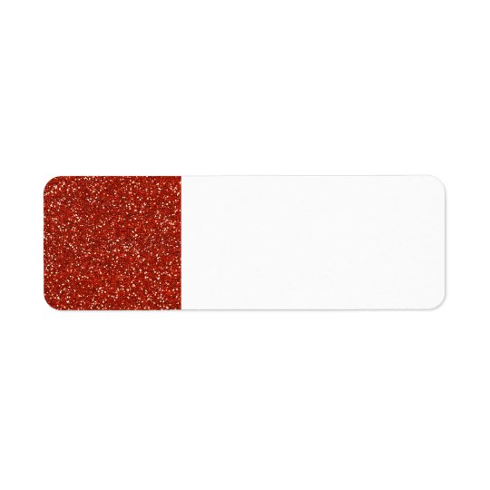 Stylish   Red Glitter Return Address Label