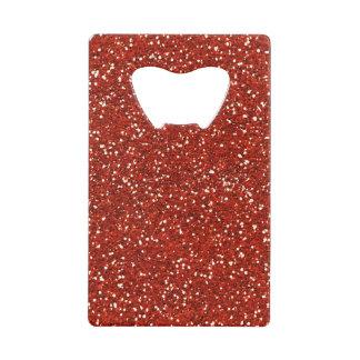 Stylish   Red Glitter Wallet Bottle Opener