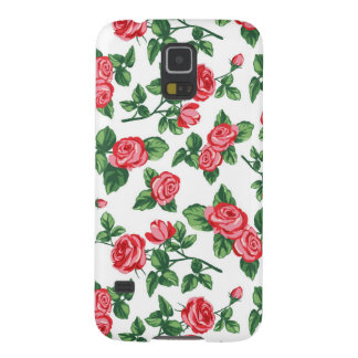 Stylish Red Rose Flowers Boutique - Natural Floral Case For Galaxy S5