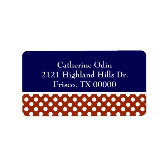 Stylish Red, White, & Blue Custom Address Label