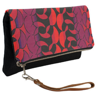 Stylish Retro Abstract Fold Over Clutch