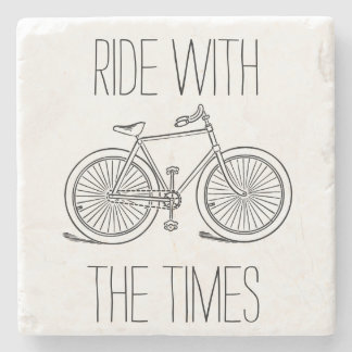 Stylish Ride With The Times Bicycle Stone Coaster