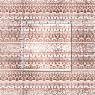 Stylish rose gold geometric aztec leopard pattern fabric